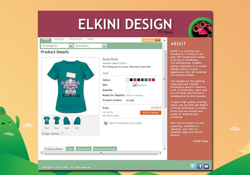 ELKINI Tshirt Page