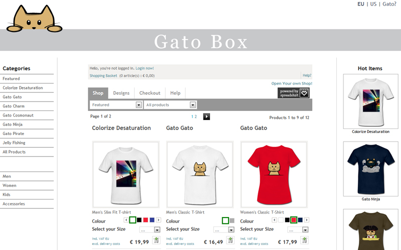 GatoBox T-Shirts
